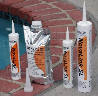 Chemlink Novalink SL Caulking Pool Deck Joints and Cracks