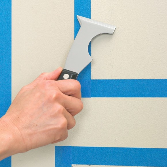 3M Blue Painters Tape Application with multi-tool