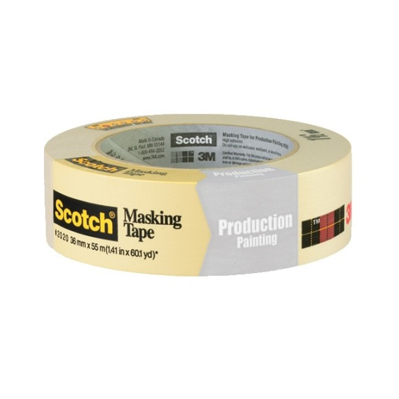3M Scotch 2020 Masking Tape 1.5 inch