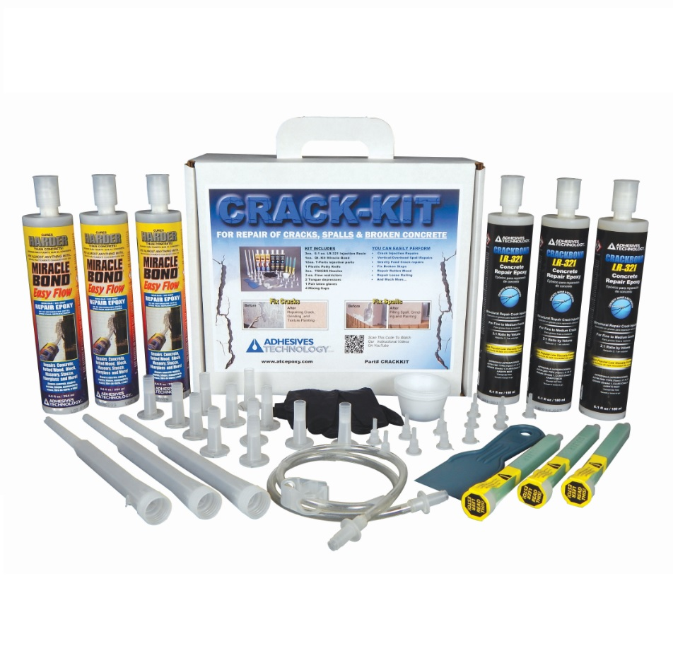 ATC Adhesives Technology Crack-Kit Concrete Repair Epoxy Kit  sc 1 st  Conspec Materials & Sealants Waterproofing Coating Tools u0026 More | CMI Serving the ...