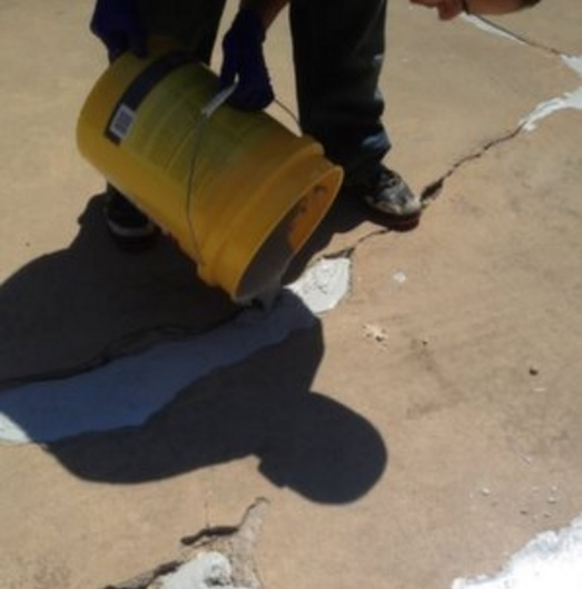 Abatron Abocrete Driveway repair Crack and spalled concrete