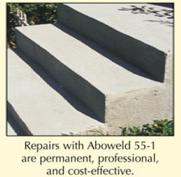 Abatron Aboweld 55-1 Epoxy Step Repair is permanent professional and cost effective