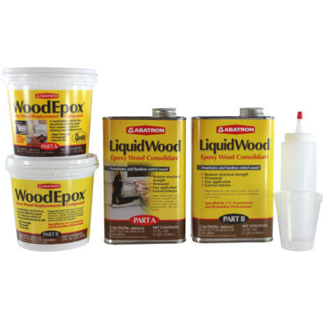 Abatron Wood Restoration Kit 4-qt Woodepox and Liquidwood