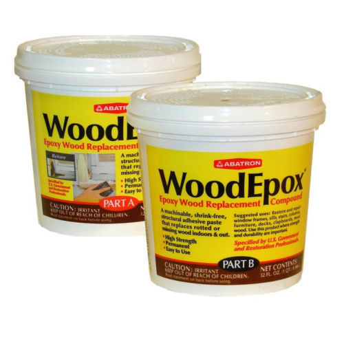 Abatron WoodEpox woodfiller historic wood restoration epoxy 2-qt