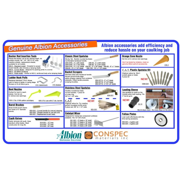 Albion Engineering Caulking Tools Conspec Materials