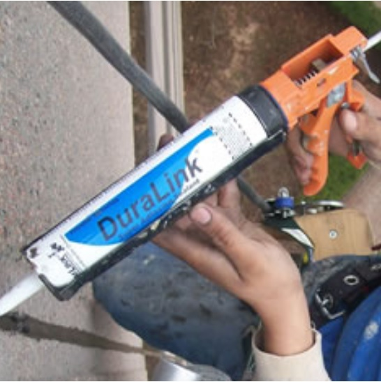 Chemlink Duralink Sealant on Concrete Wall