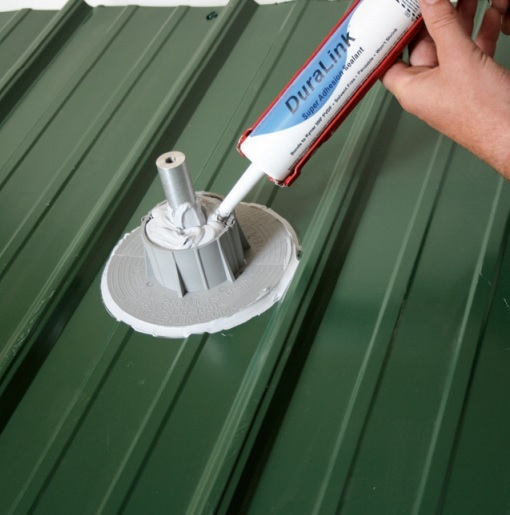 Chemlink E-Curb for roof penetrations even on sloped metal roofs