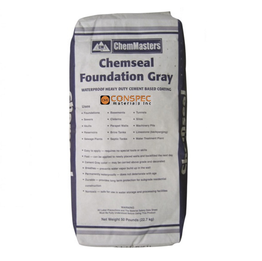 Sale! Chemmasters Foundation Coat Gray Block Foundation Basement  Waterproofing