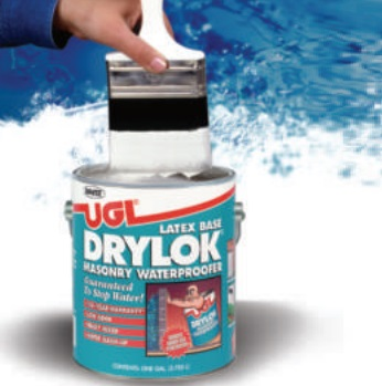 Drylok Masonry Waterproofing Latex Brush On application