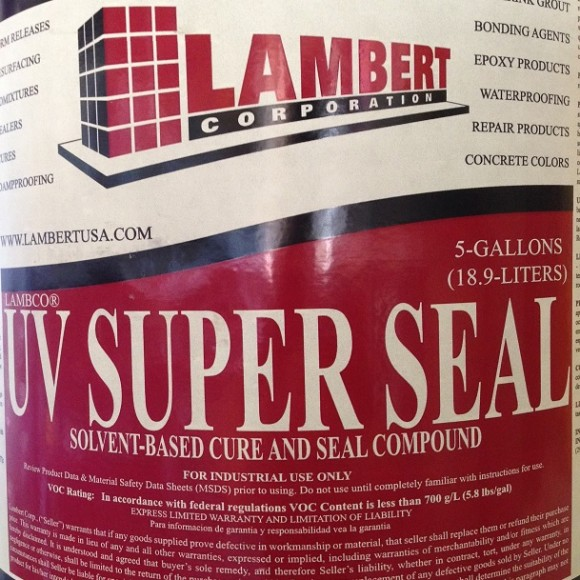 Lambert UV Super Seal Concrete Curing and Sealing Compound UV Stable Conspec Materials Tampa Florida
