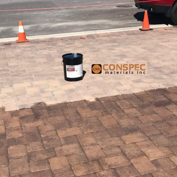 Lambert - UV Super Seal High Gloss Concrete Paver Sealer Cure and Seal Conspec Tampa Florida