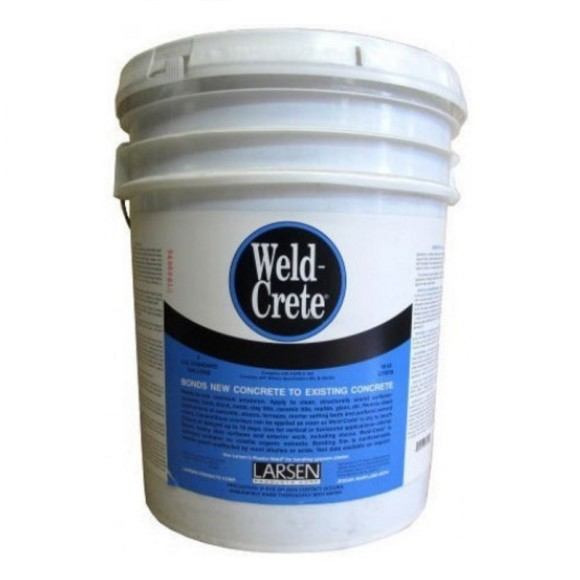 larsen products weld crete bonding agent concrete brick cement tile glass stone ceramic 5-gal