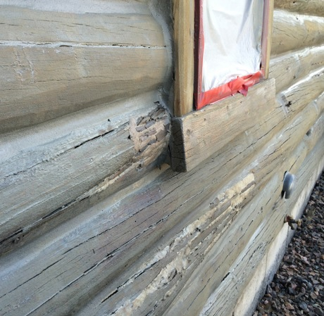 Log Cabin Home Repairs with Abatron Wood Epox