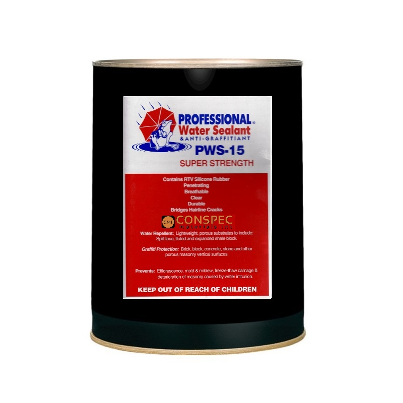 Professional Water Sealant & Anti-Graffitiant - PWS-15 SUPER (5-gal)