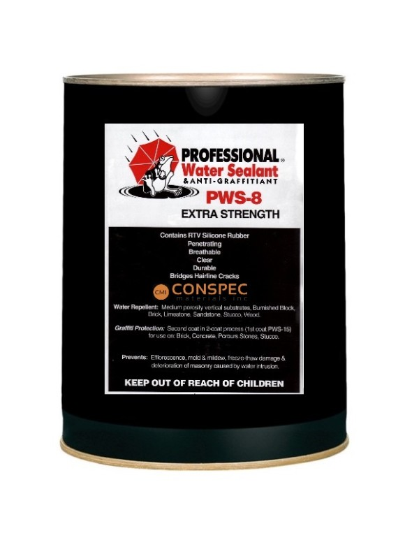 Professional® Water Sealant PWS-8 EXTRA Strength Spray on waterproofing brick block sealer 5-Gallon