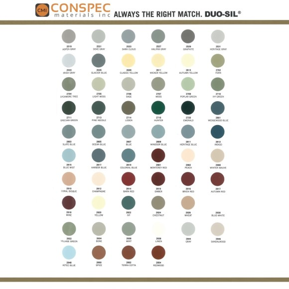 SiroFlex Duo-Sil 140 Optional Color Chart Page 2