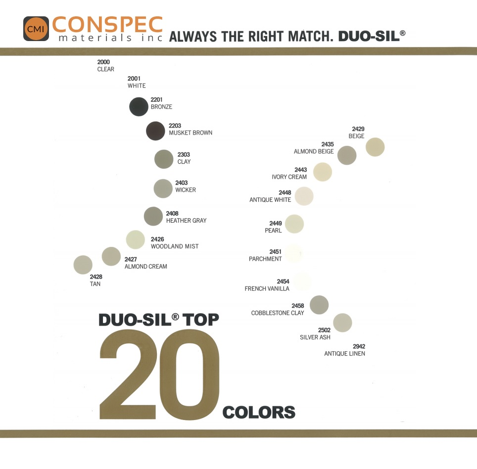 Sealants waterproofing coating tools more cmi serving the siroflex duo sil color chart top 20 nvjuhfo Gallery