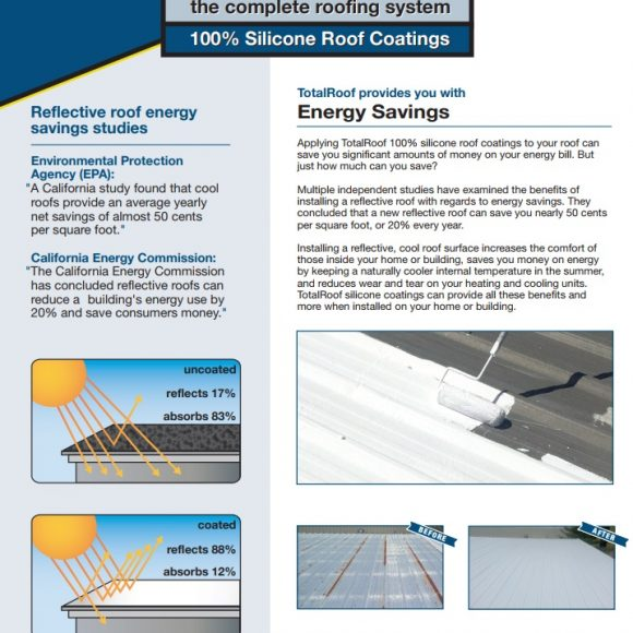 Total Roof Silicone Roof Coating Tampa Florida Conspec Silicone Energy Savings