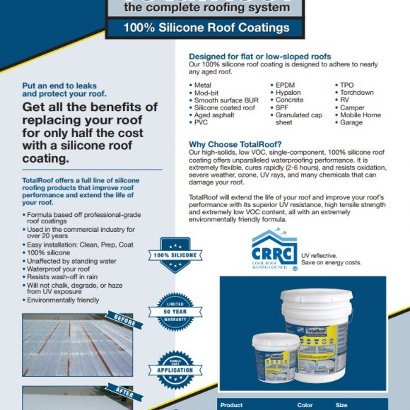 Total Roof Silicone Roof Coating Tampa Florida Conspec Silicone Waterproof Hurricane Protection