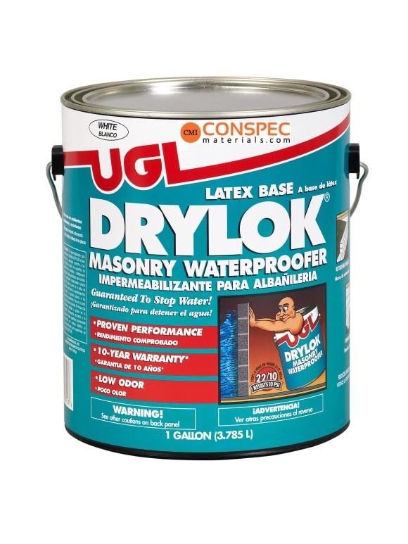 UGL Drylok 27513 Concrete Masonry Waterproofing Paint WHITE 1-Gallon Conspec Best Price