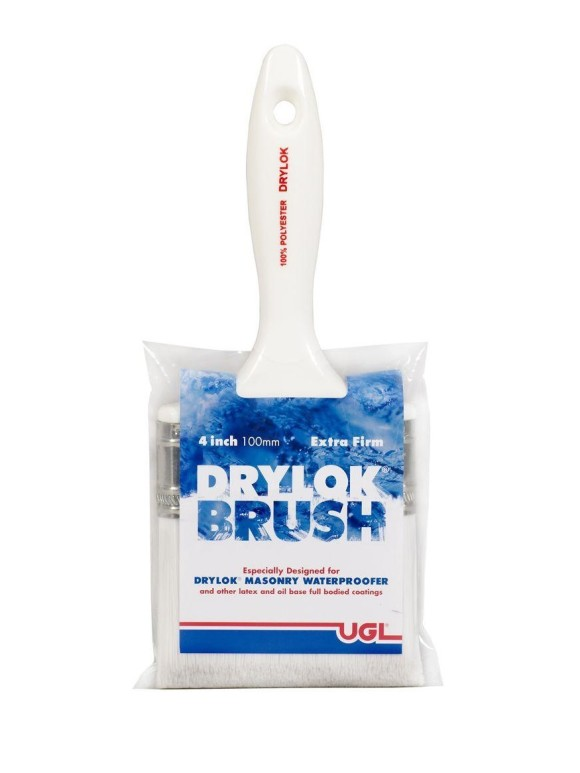 UGL Drylok Paint applicator Brush Synthetic Bristle Brush Extra Firm Bristles Painting Waterproofing