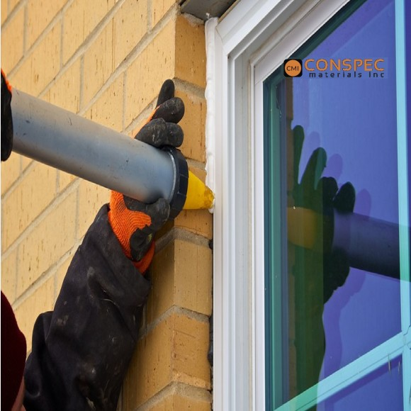 sausage gun caulking yellow cone nozzle tips conspec window glazing sealing caulking applicator contractor tampa florida
