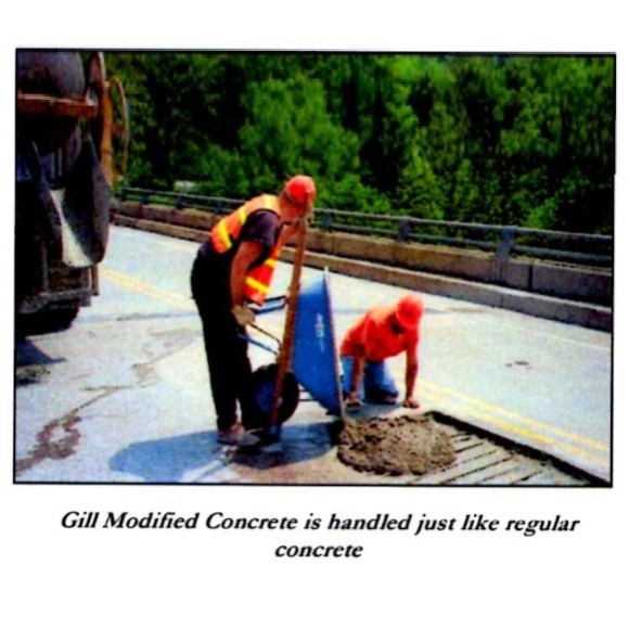 Gill 33 Modified Concrete is handled just like regular concrete