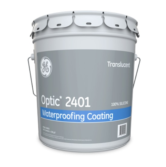 GE 2401 OPTIC Sil-Shield Translucent Waterproofing 5 Gallon Pail Tampa Florida