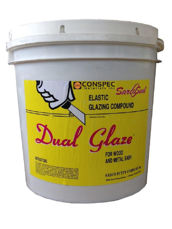 Sarco Dual Glaze For wood window Door and Metal sash 2-Gallon Glazing Compound Conspec Materials Tampa Florida
