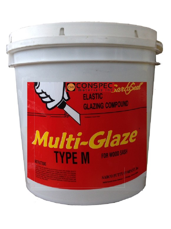Sarco Sarcoseal Multi-Glaze Type M Putty Wood Window Door Glazing Putty 2-Gal Conspec Materials
