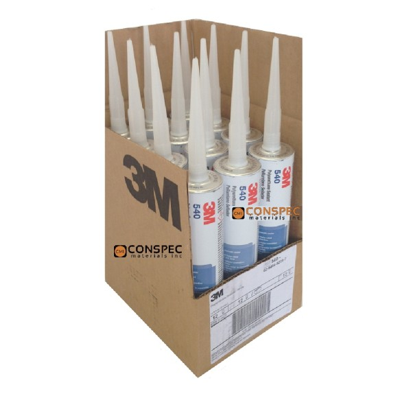 3M 540 Polyurethane Commercial Industrial and Marine Sealant Case Contractor 12-pack