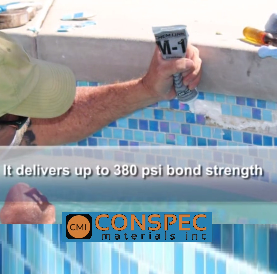 Chemlink | M-1 Swimming Pool Tile Repair Sealant | Conspec