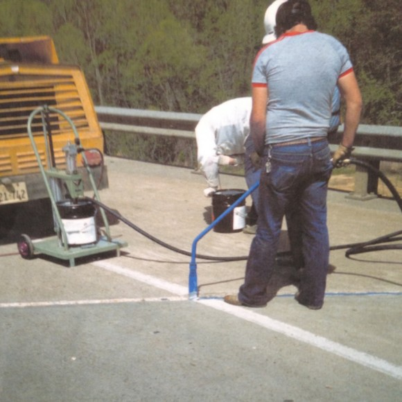 Ruscoe Highway Products 983 Joint Sealant Permanent Sealer Crack Filler DOT Roadway installation Conspec Materials