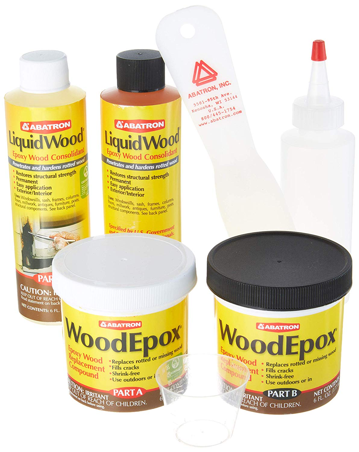 Abatron Historic Wood Restoration 24 Oz Kit Liquidwood Woodepox