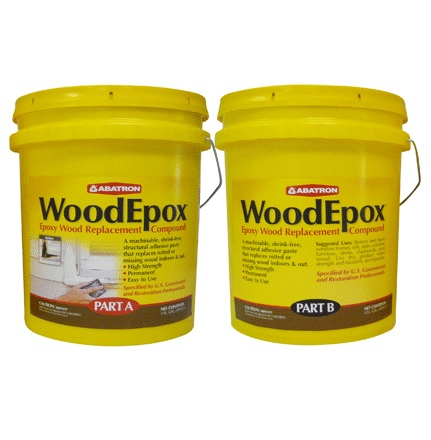 Abatron WoodEpox woodfiller historic wood restoration epoxy 10gal