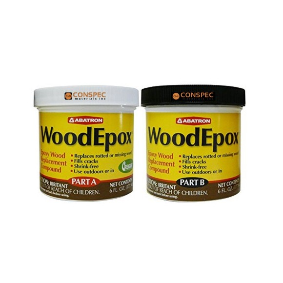 Abatron WoodEpox woodfiller historic wood restoration epoxy 12-oz Conspec Materials