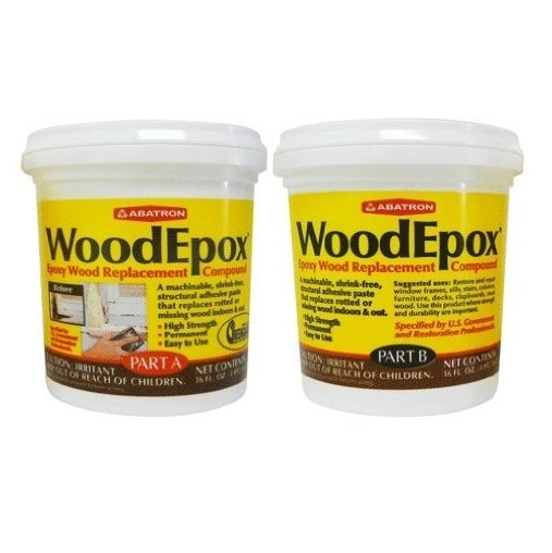 Abatron WoodEpox woodfiller historic wood restoration epoxy 2-PINT Kit