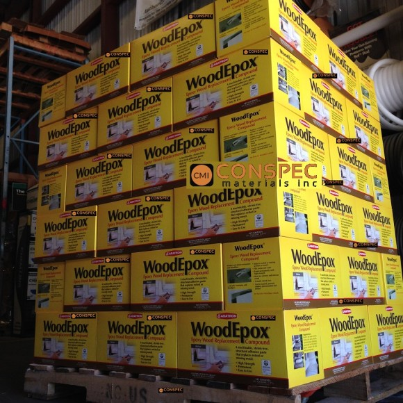 Abatron WoodEpox woodfiller historic wood restoration epoxy 2gallon CONSPEC PALLET