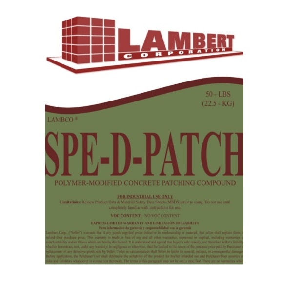 Lambert Lambco Spe-D-Patch Speedy Patch Concrete Repair Cement