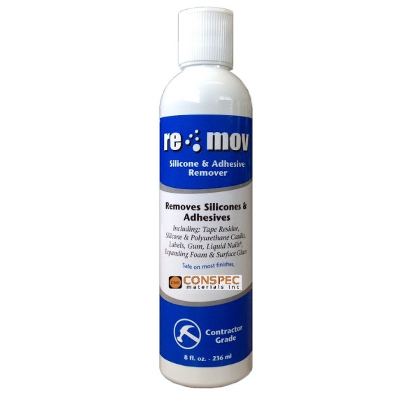 RE-MOV Silicone and Adhesive Remover 8-oz Bottle Conspec Materials