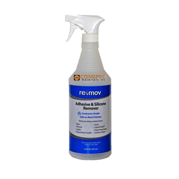 Re-Mov Silicone and Adhesive remover Quart Spray Bottle 32-oz Conspec Materials