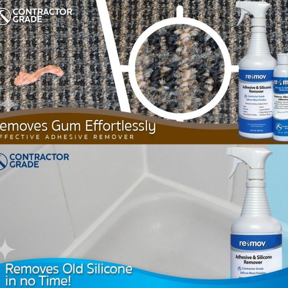 Re-Mov for gum in Carpet and bathroom silicone removal