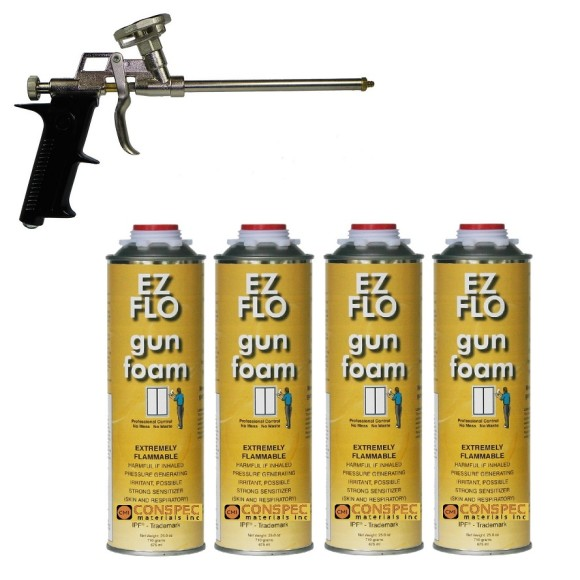 Todol EZ FLO Gun Foam Entry Level Pur Shooter 4 Can Kit