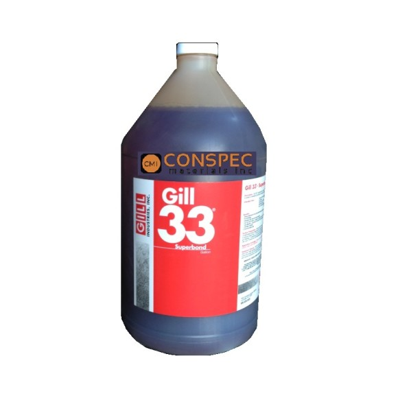 Gill 33 Superbond Liquid Admix for Portland Cement Concrete rapid cure hardener densifier waterproofer 1 Gallon Jug