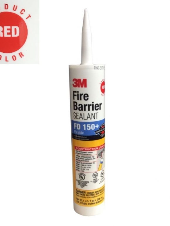 3M Fire Barrier RED Caulking Sealant FD 150+ 10-oz Tube Tampa Florida