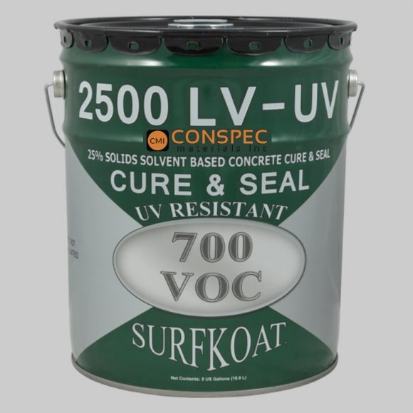 Surf Koat - Concrete Cure & Seal 2500 LV UV Resistant Solvent Based 5-Gal Conspec Tampa Florida