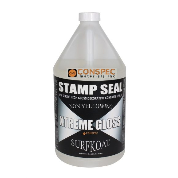 Surf Koat - Stamp Seal Extreme GLoss SB Solvent Based Decorative Concrete Sealer 1-Gal Conspec Tampa