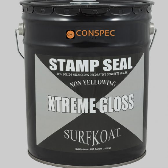 Surf Koat - Stamp Seal Extreme GLoss SB Solvent Based Decorative Concrete Sealer 5-Gal Conspec Tampa