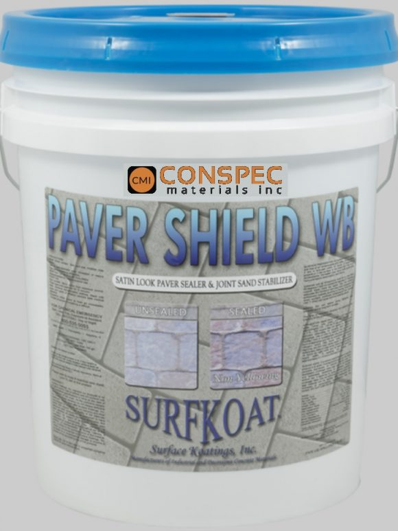 Surf Koat - Natural Look Paver Sealer Paver Shield Water Based 5-Gal Seal and Lock paver sand Conspec Tampa