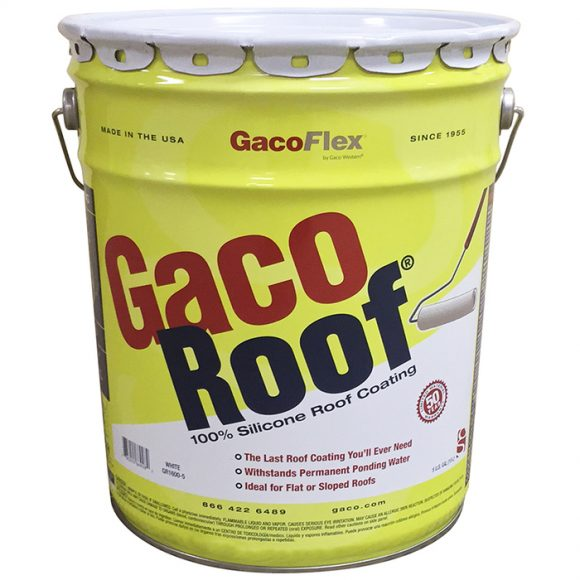 GacoRoof GR-1600 Silicone Roof Coating New Formula 5-gallon Tampa Florida Flat Roof